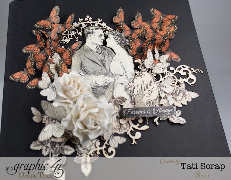 Tati, Mixed media Album, Mon Amour Collection, Product by Graphic 45, Photo 4