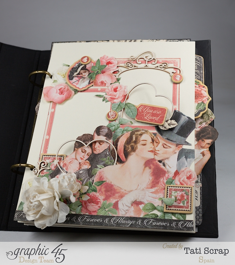 Tati, Mixed media Album, Mon Amour Collection, Product by Graphic 45, Photo 6