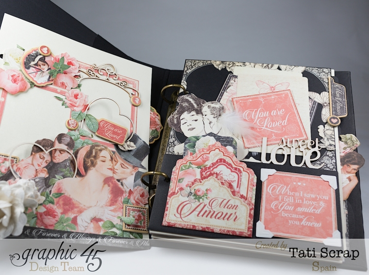 Tati, Mixed media Album, Mon Amour Collection, Product by Graphic 45, Photo 7