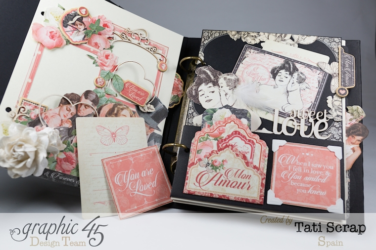Tati, Mixed media Album, Mon Amour Collection, Product by Graphic 45, Photo 8