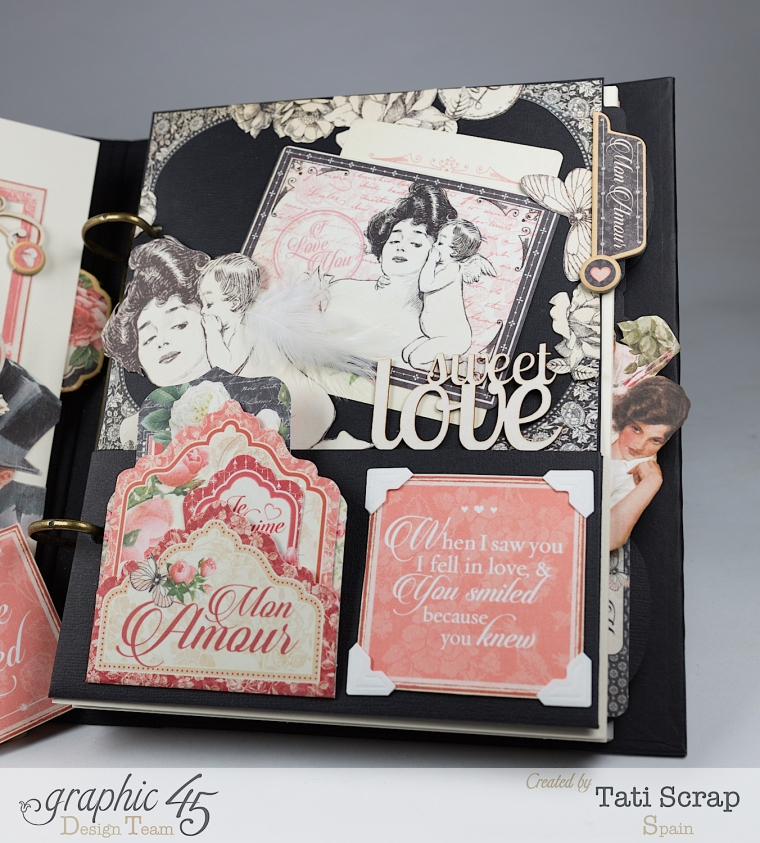 Tati, Mixed media Album, Mon Amour Collection, Product by Graphic 45, Photo 9