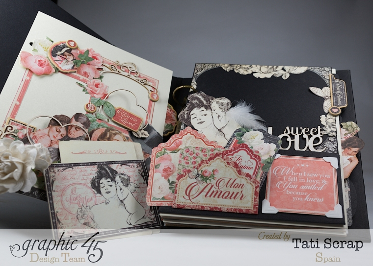 Tati, Mixed media Album, Mon Amour Collection, Product by Graphic 45, Photo11