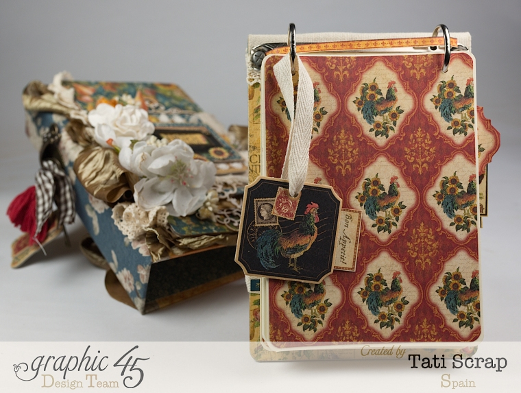 Tati, Recipe Album, French Country, Product by Graphic 45, Photo 10