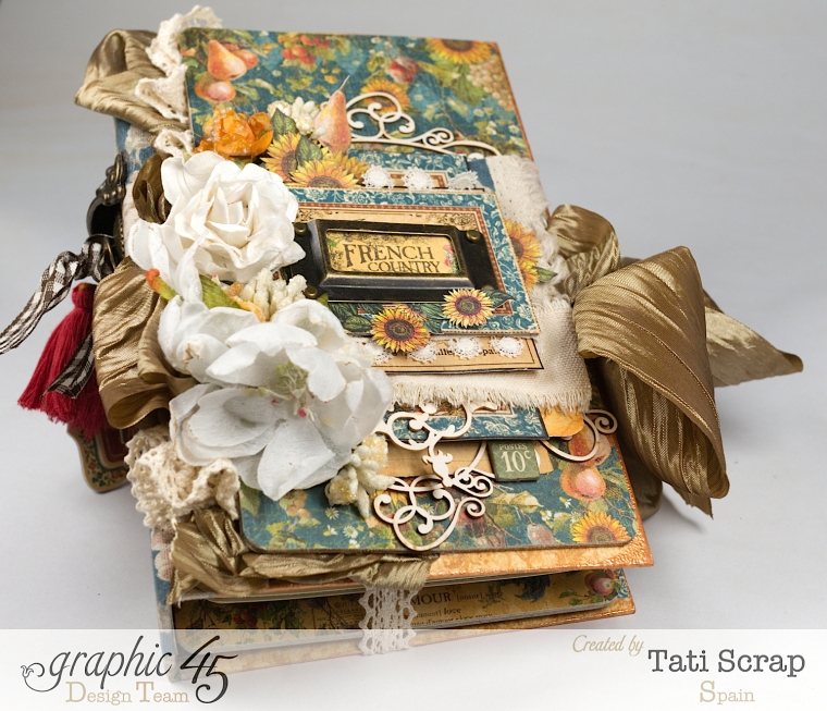 Tati, Recipe Album, French Country, Product by Graphic 45, Photo 2