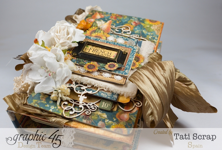 Tati, Recipe Album, French Country, Product by Graphic 45, Photo 3