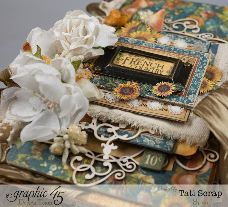 Tati, Recipe Album, French Country, Product by Graphic 45, Photo 4