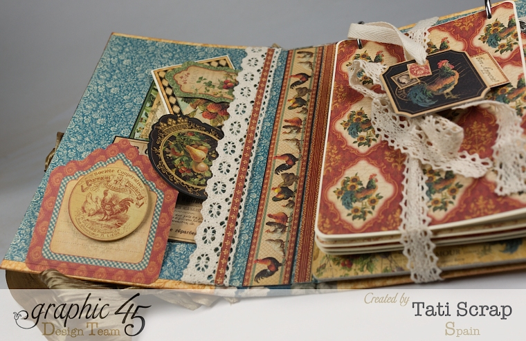 Tati, Recipe Album, French Country, Product by Graphic 45, Photo 6