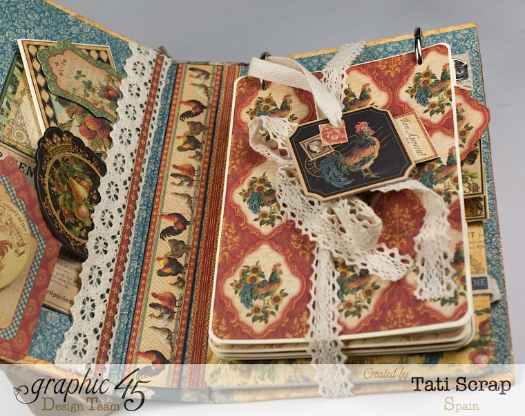 Tati, Recipe Album, French Country, Product by Graphic 45, Photo 7