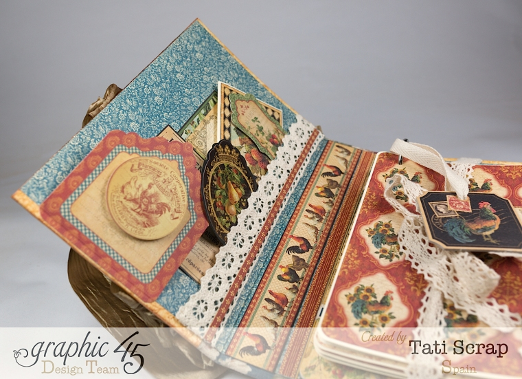 Tati, Recipe Album, French Country, Product by Graphic 45, Photo 8