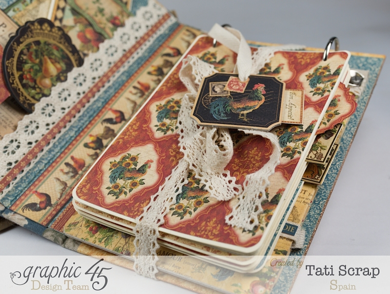Tati, Recipe Album, French Country, Product by Graphic 45, Photo 9