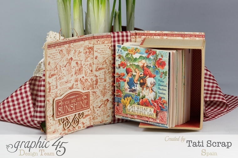 Tati, %22 Save the Date%22, ATC Book Box, Children´s Hour, product by Graphic 45, Photo 12