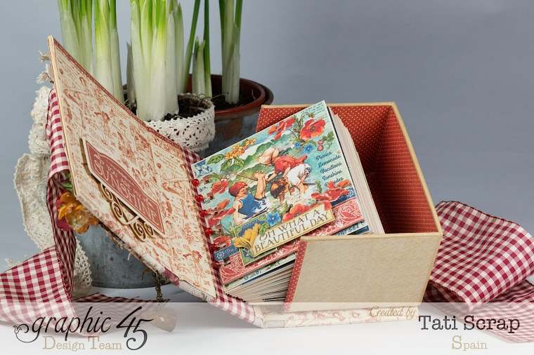 Tati, %22 Save the Date%22, ATC Book Box, Children´s Hour, product by Graphic 45, Photo 7
