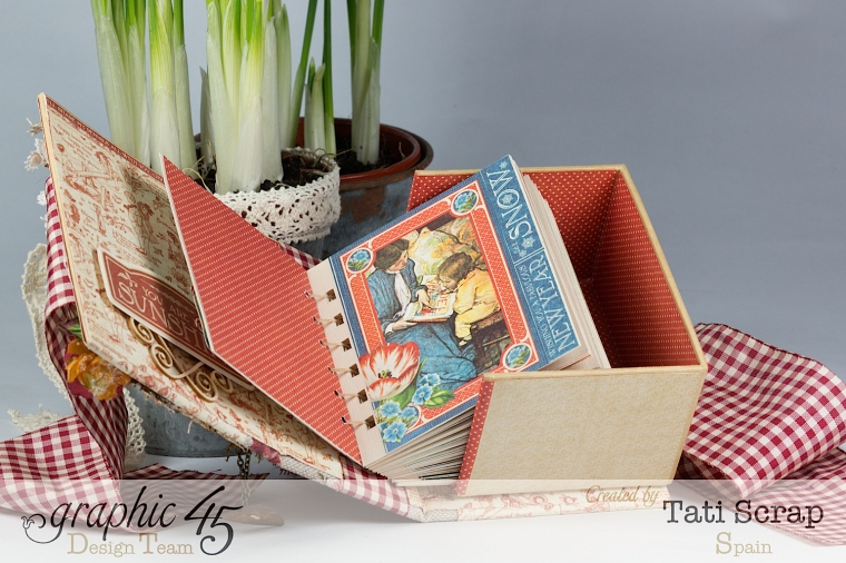Tati, %22 Save the Date%22, ATC Book Box, Children´s Hour, product by Graphic 45, Photo 8