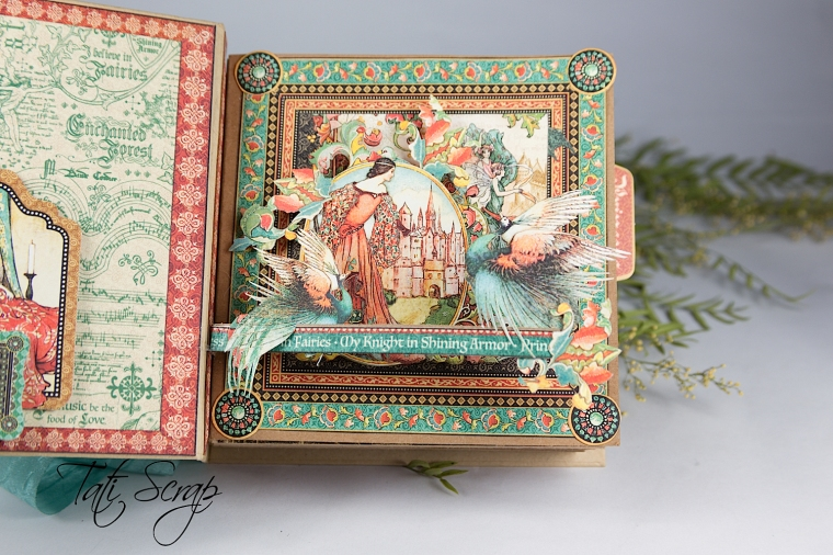 Tati, Enchanted Forest, Square Tag & Pocket Album, Product by Graphic 45, Photo 11