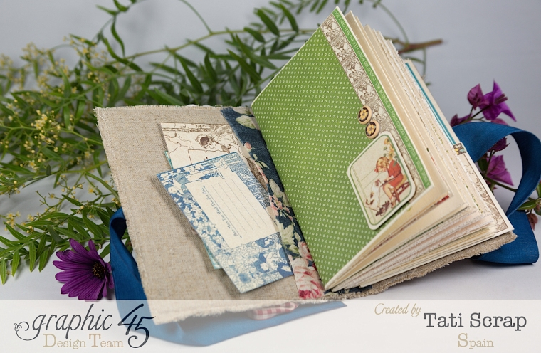 Tati, Spring Book, May Arts blog hop, Children´s Hour, Product by Graphic 45, Photo 8