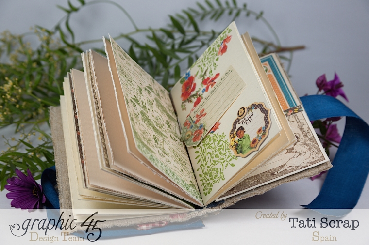 Tati, Spring Book, May Arts blog hop, Children´s Hour, Product by Graphic 45, Photo12