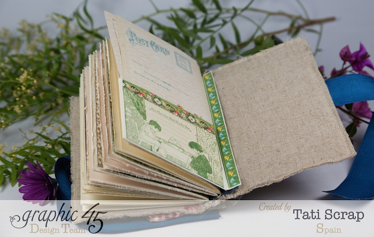 Tati, Spring Book, May Arts blog hop, Children´s Hour, Product by Graphic 45, Photo14