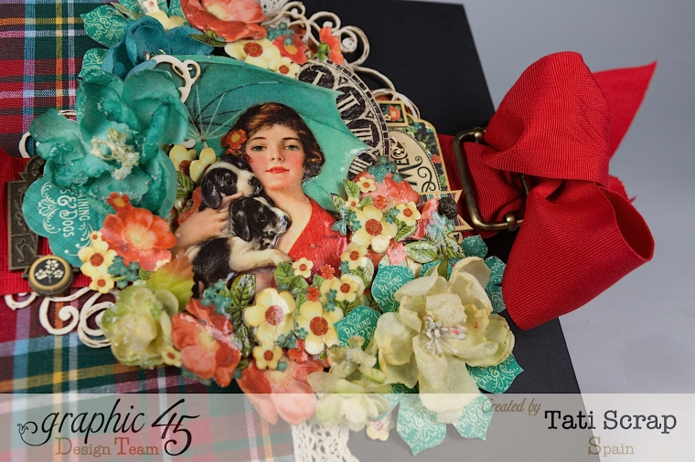 Tati,%22For my Lovely Dogs%22 Mixed Media Album, Raining Cats & Dogs, Product by Graphic 45, Photo 6