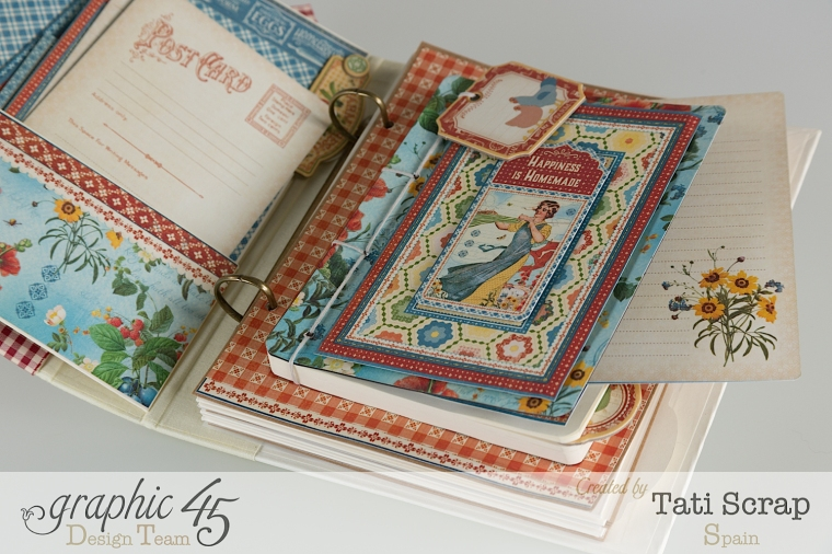 Tati, Mixed Media Album, Recipe Book, Home Sweet Home, Product by Graphic 45, Photo 10