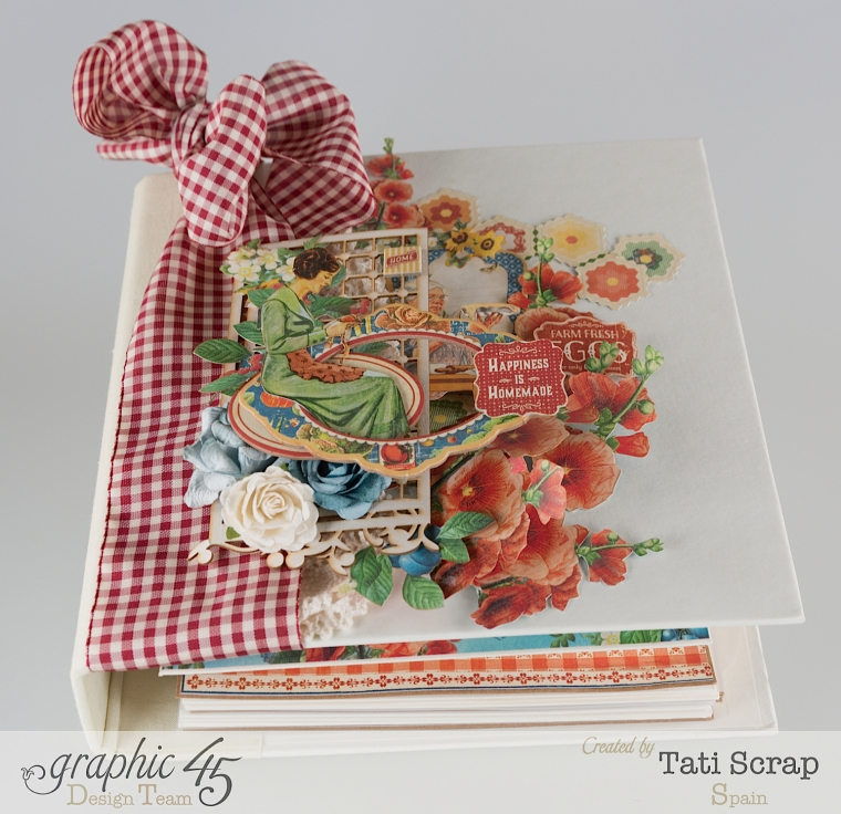 Tati, Mixed Media Album, Recipe Book, Home Sweet Home, Product by Graphic 45, Photo 2
