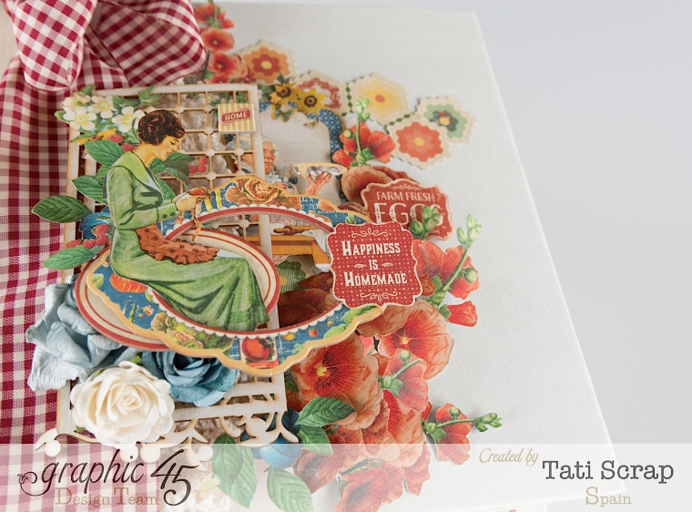Tati, Mixed Media Album, Recipe Book, Home Sweet Home, Product by Graphic 45, Photo 4