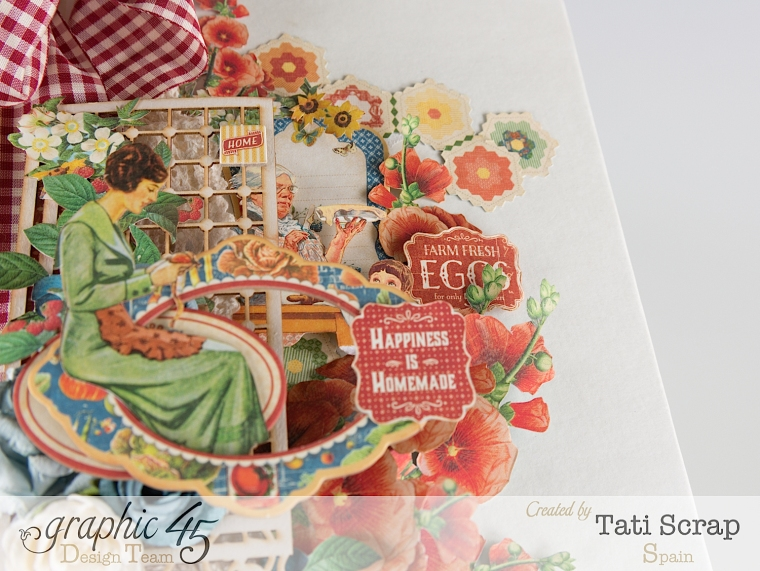 Tati, Mixed Media Album, Recipe Book, Home Sweet Home, Product by Graphic 45, Photo 5