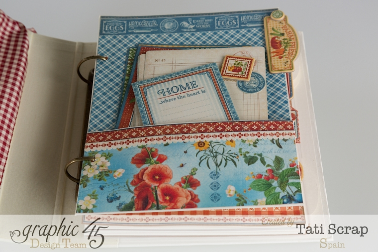 Tati, Mixed Media Album, Recipe Book, Home Sweet Home, Product by Graphic 45, Photo 6