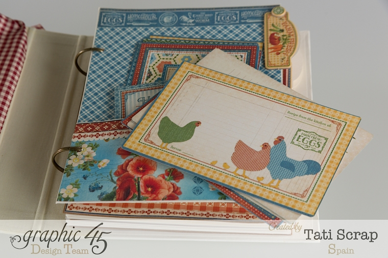 Tati, Mixed Media Album, Recipe Book, Home Sweet Home, Product by Graphic 45, Photo 7