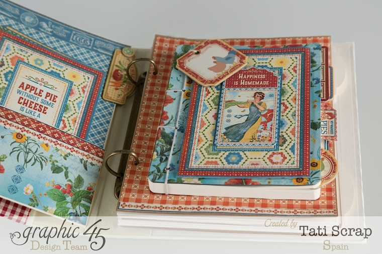 Tati, Mixed Media Album, Recipe Book, Home Sweet Home, Product by Graphic 45, Photo 8