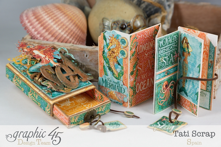 Tati,Voyage Beneath the Sea, Mini Album in a Matchbox , Product by Graphic 45, Photo 10