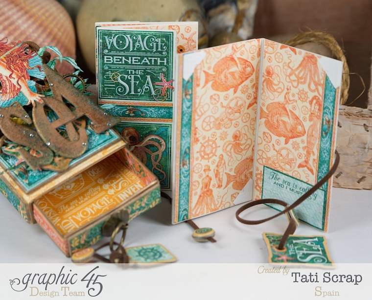 Tati,Voyage Beneath the Sea, Mini Album in a Matchbox , Product by Graphic 45, Photo 12