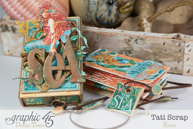 Tati,Voyage Beneath the Sea, Mini Album in a Matchbox , Product by Graphic 45, Photo 15