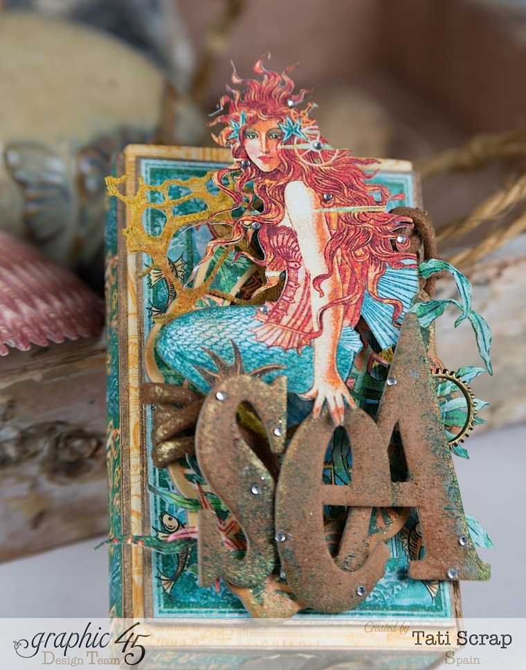 Tati,Voyage Beneath the Sea, Mini Album in a Matchbox , Product by Graphic 45, Photo 4