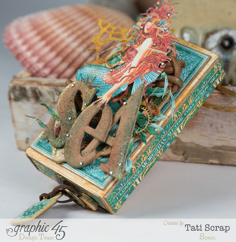 Tati,Voyage Beneath the Sea, Mini Album in a Matchbox , Product by Graphic 45, Photo 6