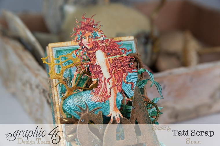 Tati,Voyage Beneath the Sea, Mini Album in a Matchbox , Product by Graphic 45, Photo 7