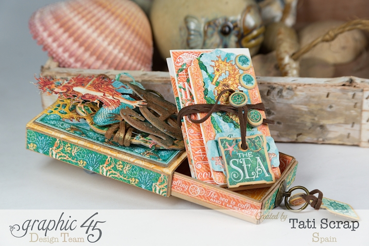 Tati,Voyage Beneath the Sea, Mini Album in a Matchbox , Product by Graphic 45, Photo 8