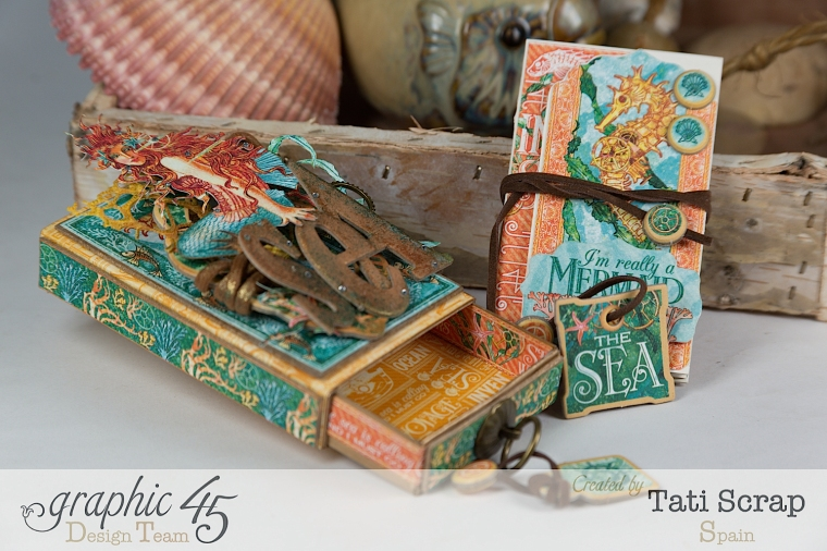 Tati,Voyage Beneath the Sea, Mini Album in a Matchbox , Product by Graphic 45, Photo 9