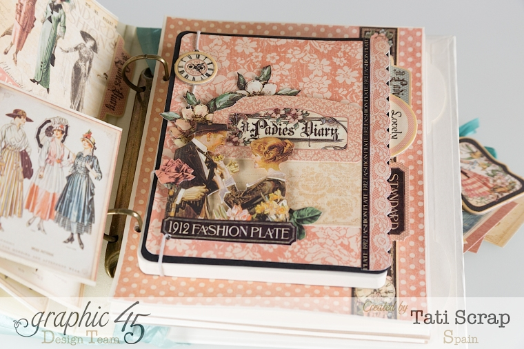 Tati, A Ladies Diary, Mixed Media Album, Product by Graphic 45, Photo 10
