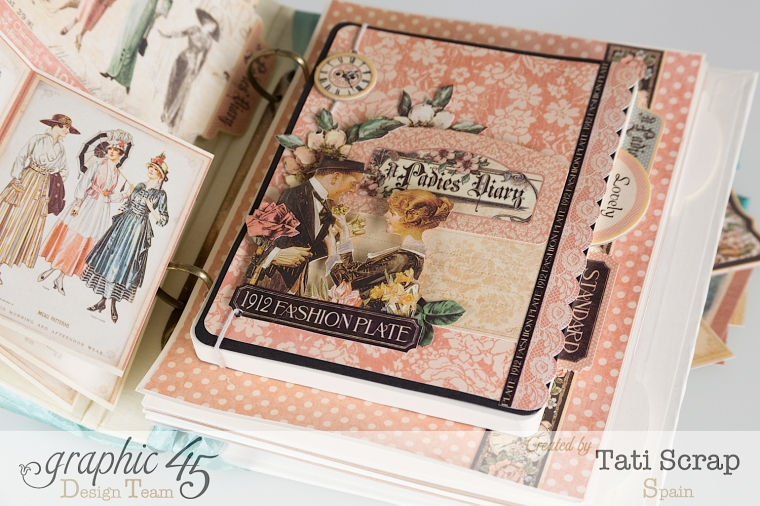 Tati, A Ladies Diary, Mixed Media Album, Product by Graphic 45, Photo 11