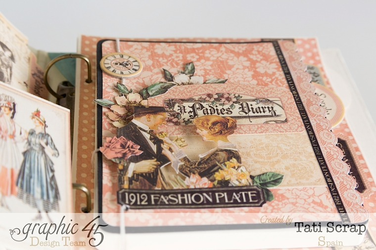 Tati, A Ladies Diary, Mixed Media Album, Product by Graphic 45, Photo 13