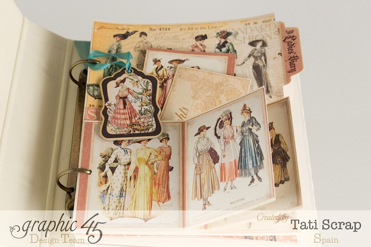 Tati, A Ladies Diary, Mixed Media Album, Product by Graphic 45, Photo 6
