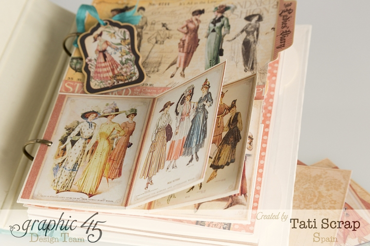 Tati, A Ladies Diary, Mixed Media Album, Product by Graphic 45, Photo 7