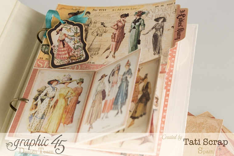 Tati, A Ladies Diary, Mixed Media Album, Product by Graphic 45, Photo 8