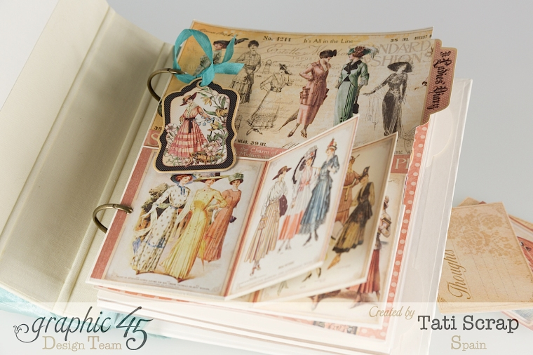 Tati, A Ladies Diary, Mixed Media Album, Product by Graphic 45, Photo 9