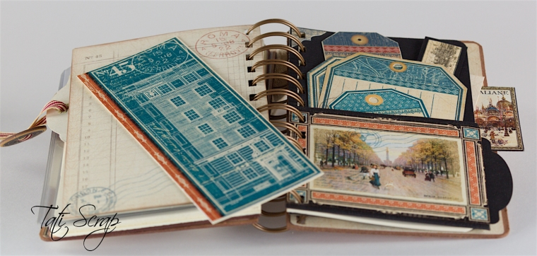 Tati, Traveller Smash Book, City Scapes, Product By Graphic 45, Photo 16