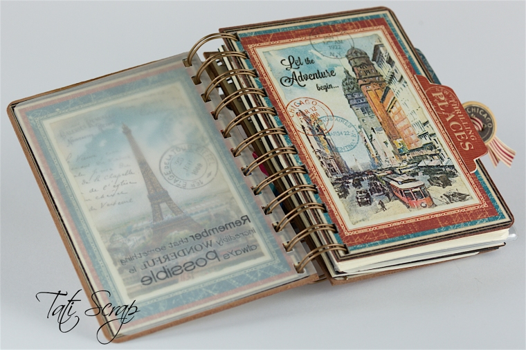 Tati, Traveller Smash Book, City Scapes, Product By Graphic 45, Photo 8