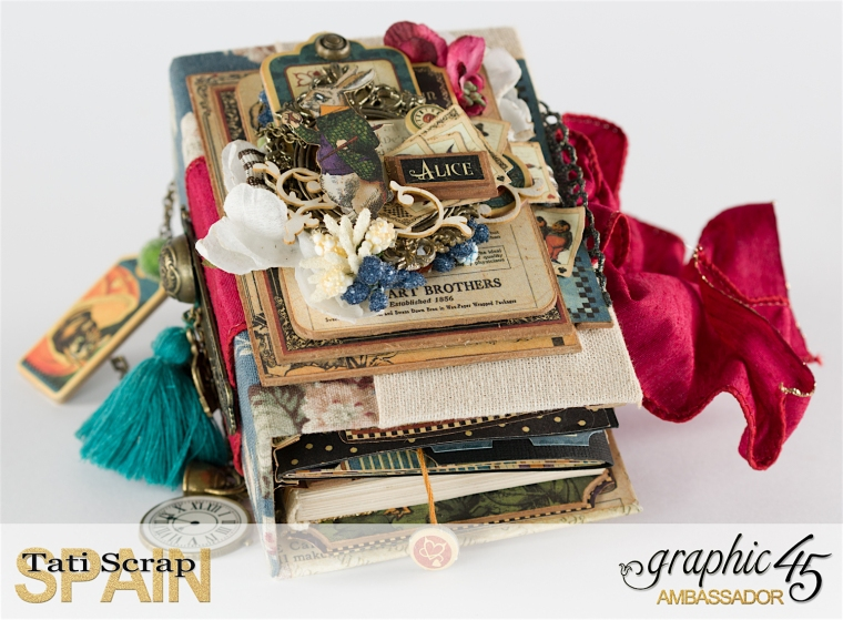 Tati, Hallowe'en in Wonderland., Magical Book, Product by Graphic 45, photo 0-1
