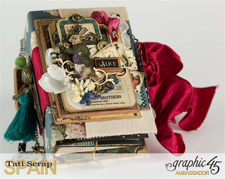 Tati, Hallowe'en in Wonderland., Magical Book, Product by Graphic 45, photo 0