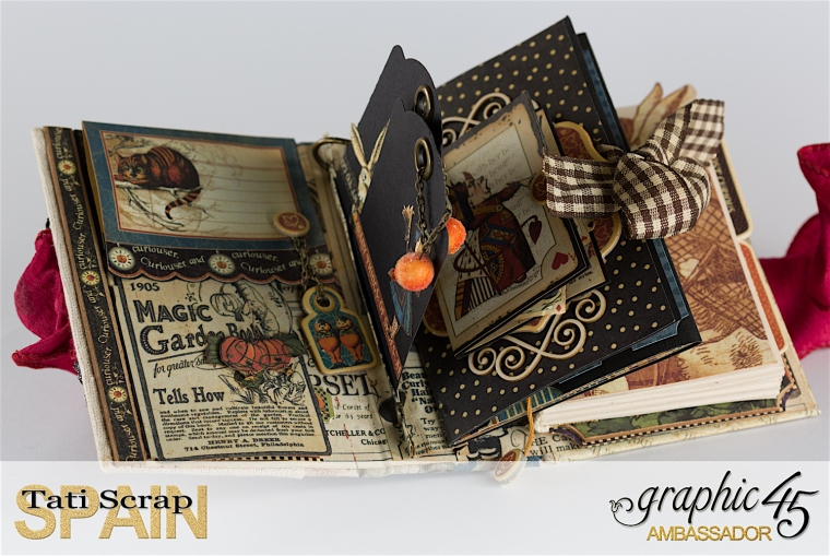Tati, Hallowe'en in Wonderland., Magical Book, Product by Graphic 45, photo 10
