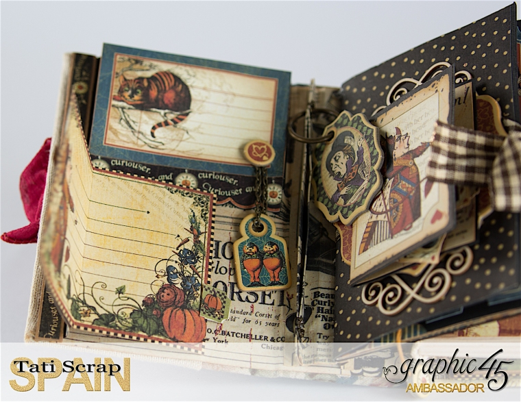 Tati, Hallowe'en in Wonderland., Magical Book, Product by Graphic 45, photo 13